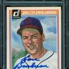 1983 Donruss HOF Baseball  #12  Lou Boudreau  Autograph  PSA/DNA Certified