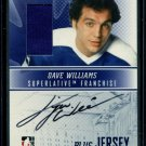 2008-09 ITG Superlative Franchise Toronto  Autograph Jersey  Dave Williams  /30
