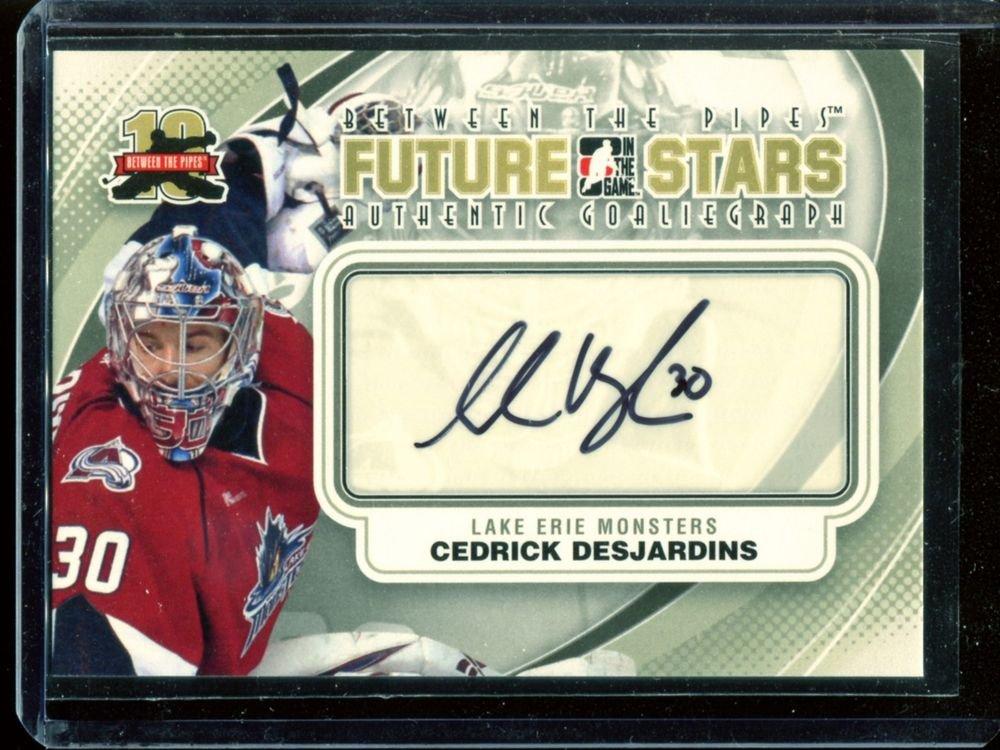 2011-12 ITG Between the Pipes Goaliegraph Autograph #A-CD   Cedrick Desjardins