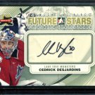 2011-12 ITG Between the Pipes Goaliegraph Autograph #A-CD   Cedrick Desjardins