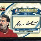2011-12 ITG Between the Pipes Goaliegraph Autograph #A-RLE  Reggie Lemelin