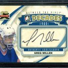 2011-12 ITG Between the Pipes Goaliegraph Autograph  A-GMI  Greg Millen
