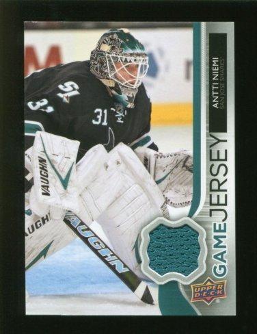2014-15 Upper Deck Hockey Series 1 Game Jersey  #GJ-AN  Antti Niemi