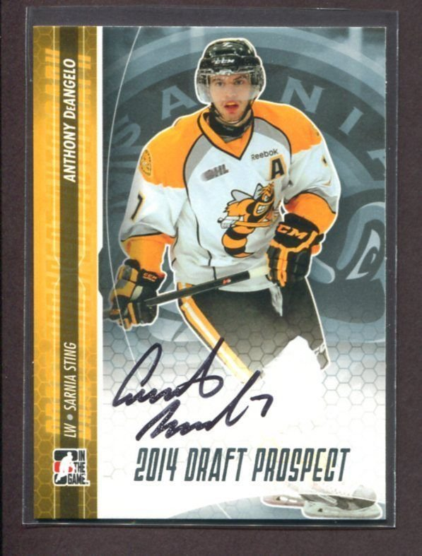 2014 ITG Hockey Draft Prospects AUTOGRAPH  Anthony DeAngelo  #A-AD2