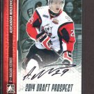 2014 ITG Hockey Draft Prospects AUTOGRAPH  Aleksandar Mikulovich  #A-AM2