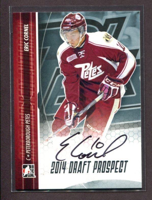 2014 ITG Hockey Draft Prospects AUTOGRAPH  Eric Cornel  #A-EC2