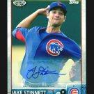 2015 Topps Baseball Pro Debut  #139  Jake Stinnett  AUTOGRAPH