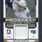 2014 ITG Hockey Draft Prospects Game Used Jersey Brycen Martin  PGU-6 11/45