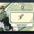 2011-12 ITG Between the Pipes Goaliegraph Autograph #A-DO   Drew Owsley