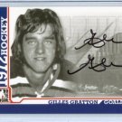 ITG 1972 The Year in Hockey  Autograph  #A-GG  Gilles Gratton