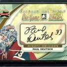 2011-12 ITG Between the Pipes Goaliegraph Autograph A-PD   Paul Deutsch