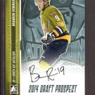 2014 ITG Hockey Draft Prospects AUTOGRAPH  Brandon Robinson  #A-BR2
