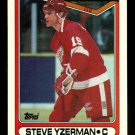 1990-91 Topps Hockey  #222 Steve Yzerman  Detroit Red Wings