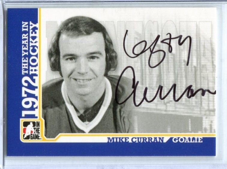 ITG 1972 The Year in Hockey  Autograph  #A-MC  Mike Curran
