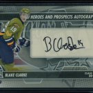 2013-14 ITG Heroes & Prospects AUTOGRAPH  Blake Clarke  A-BC  Auto