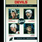 2001-02 UD Hockey Vintage  Team Checklist  #157  New Jersey Devils
