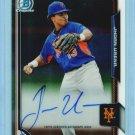 2015 Bowman Baseball Chrome Autograph  #BCAP-JU  Jhoan Urena