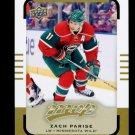 2015-16 Upper Deck MVP Hockey  High Number  SP  #160  Zach Parise