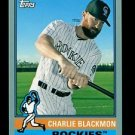 2015 Topps Baseball Archives  Silver Border  #131  Charlie Blackmon  47/199