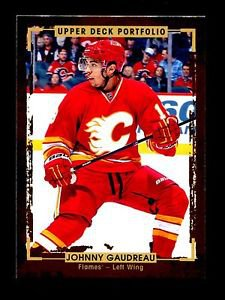 2015-16 Upper Deck Portfolio Hockey  Base  #61  Johnny Gaudreau