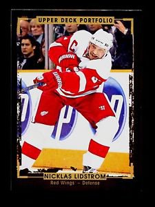 2015-16 Upper Deck Portfolio Hockey  Base  #191  Nicklas Lidstrom