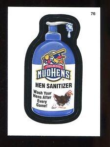 2016 Topps MLB Wacky Packages  #76  Toledo Mud Hens Hen Sanitizer