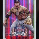 2015 Panini USA Baseball Stars & Stripes  Longevity Sapphire #27  D.J. Peterson