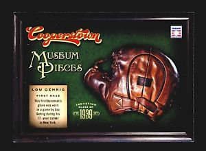 2012 Panini Cooperstown Baseball Hall of Fame Museum Pieces #14  Lou Gehrig