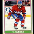 2012-13 O-Pee-Chee Hockey  Sticker  #S-57  P.K. Subban