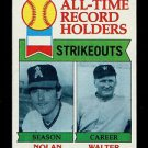 1979 Topps Baseball  #417  All-Time Strikeouts  Nolan Ryan  Walter Johnson