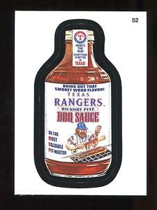 2016 Topps MLB Wacky Packages  #52  Rangers BBQ Sauce