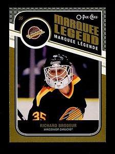 2011-12 OPC O-Pee-Chee Hockey  Marquee Legend  #503  Richard Brodeur