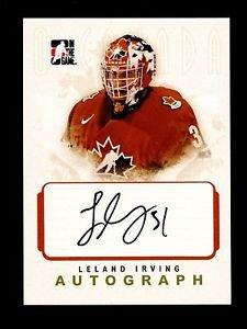 2007-08 ITG O Canada Hockey Autograph  Leland Irving  #A-LI