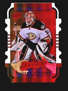 2015-16 MVP Hockey Colours and Contours #16  Frederik Andersen  Gold Level 2