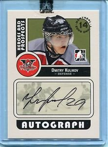 2008-09 ITG Heroes & Prospects Autograph Draft Day Pick  Dmitry Kulikov  #A-DK
