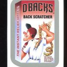 2016 Topps MLB Wacky Packages  #18  Silver Border  Dbacks Back Scratcher