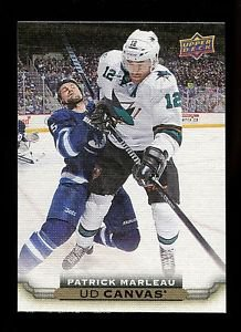 2015-16 Upper Deck Hockey Series 1 UD Canvas  #C73  Patrick Marleau
