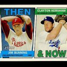 2016 Topps Heritage Baseball  Then & Now #TAN-BK  Jim Bunning  Clayton Kershaw