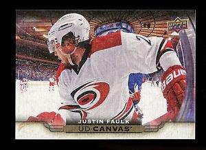 2015-16 Upper Deck Hockey Series 1 UD Canvas  #C18  Justin Faulk