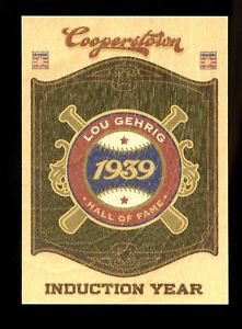 2012 Panini Cooperstown Baseball Induction Year 1939  #3  Lou Gehrig