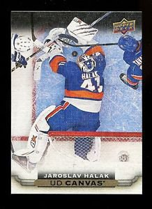 2015-16 Upper Deck Hockey Series 1 UD Canvas  #C56  Jaroslav Halak