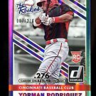 2015 Panini Donruss Baseball  The Rookies Stat Line  Yorman Rodriguez #12  7/276