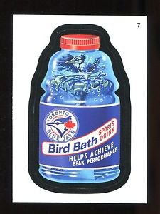 2016 Topps MLB Wacky Packages  #7  Blue Jays Bird Bath Sports Drink