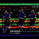2016-17 OPC O-Pee-Chee Hockey  RAINBOW  #640  St. Louis Blues  Checklist