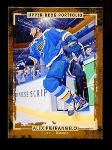 2015-16 Upper Deck Portfolio Hockey  Base  #155  Alex Pietrangelo