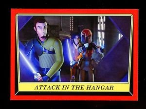 2016 Topps Star Wars Rogue One Mission Briefing  #19  Attack in the Hangar