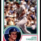 2018 Topps Baseball Series 1  1983 Insert #83-79  Jose Canseco