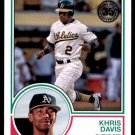 2018 Topps Baseball Series 1  1983 Insert #83-8  Khris Davis