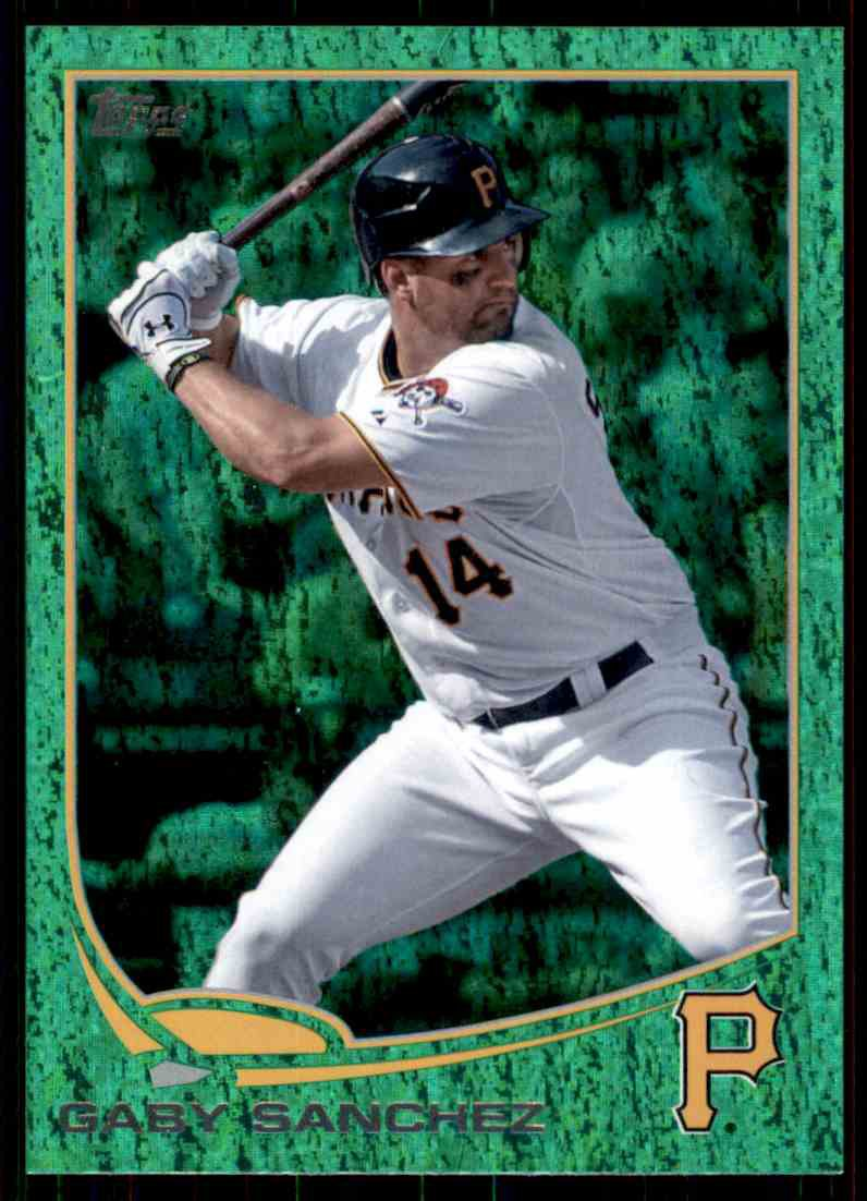 2013 Topps Baseball Emerald Foil Parallel #98  Gaby Sanchez