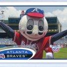 2012 Topps Baseball Opening Day Mascot #M-8  Atlanta Braves